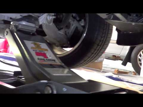 Chevy C5 Corvette and how to properly jack it up with a low profile jack for service