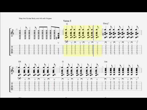 (The Avett Brothers) Paranoia in Bb (Ab) Major - Josh Turner (Guitar Tabs)