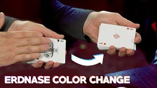 Visually Transform a Card | The Erdnase Color Change
