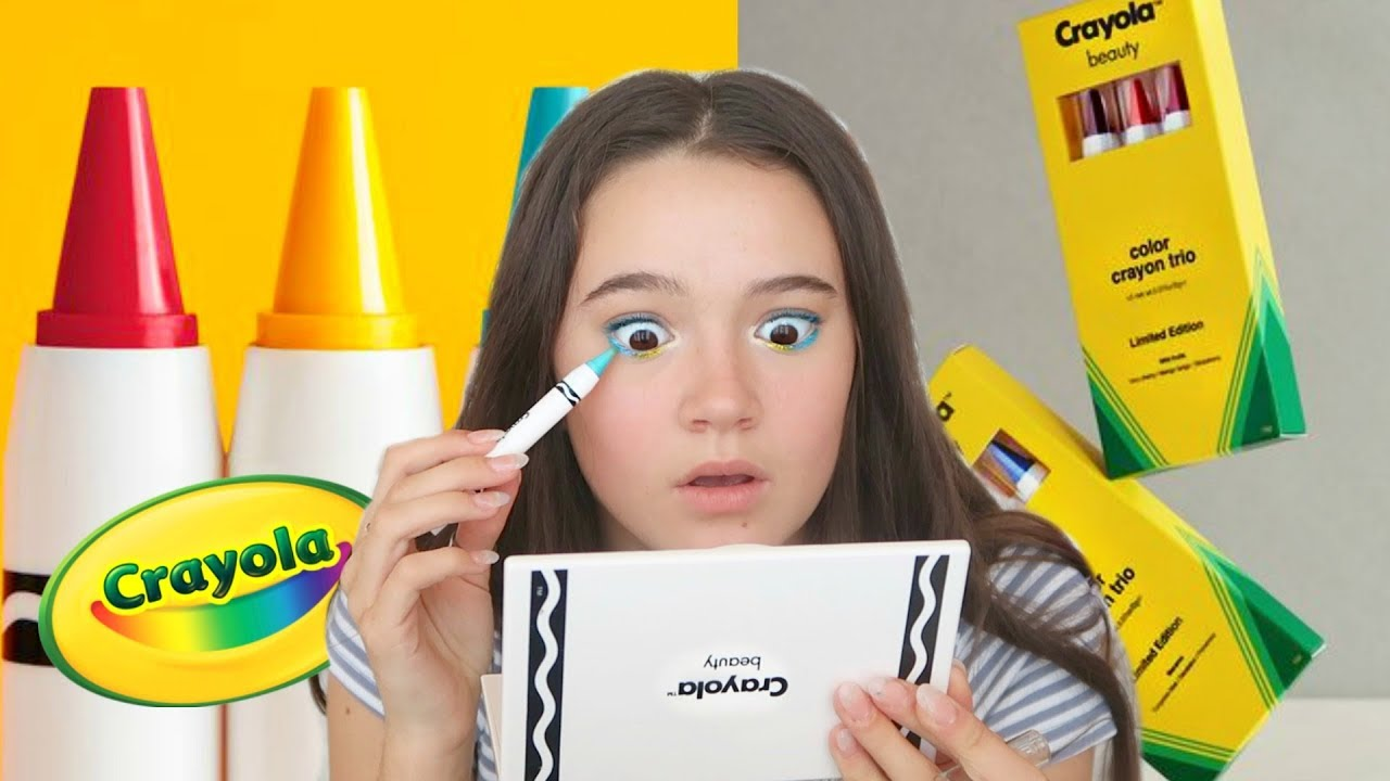 67319bc058e Crayola Released A MAKEUP Line And I Tried It... Fiona Frills - YouTube