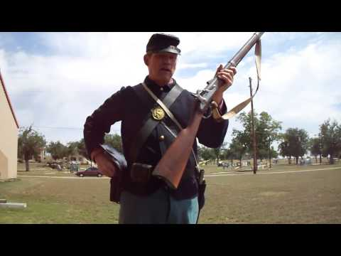 Loading and Firing a Civil War Springfield Rifle Musket