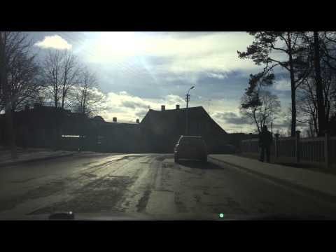 Driving in Panevezys, Lithuania. Shoot on iPhone 5S