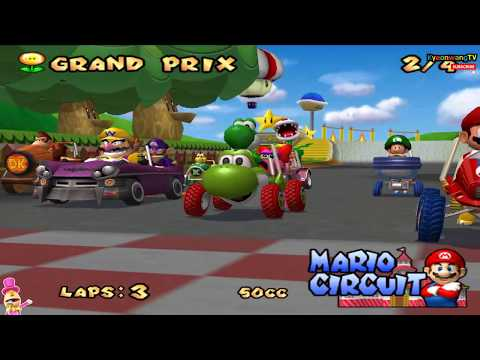 Mario Kart Double Dash!! (GameCube, 50cc) Player Mario with Bowser Jr #04 ( 1080P )