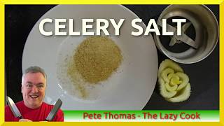 How To Make Celery Salt A Healthy Alternative To Salt Youtube