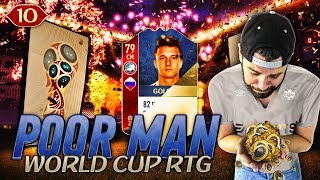 MOTM GOLOVIN?! ANOTHER ICON PACK! 4231 is the meta? - POOR MAN WORLD CUP RTG #10 - FIFA 18