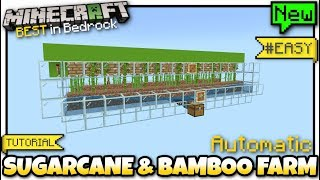 Minecraft Bedrock - SUGARCANE & BAMBOO FARM ( Automatic )[ Redstone Tutorial ] MCPE / Xbox / Switch