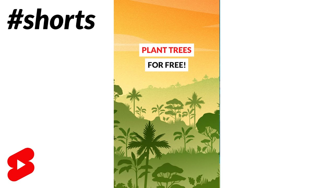 Plant trees for FREE #shorts