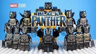LEGO Black Panther Minifigure Collection w/ Killmonger Civil War & Infinity War Series