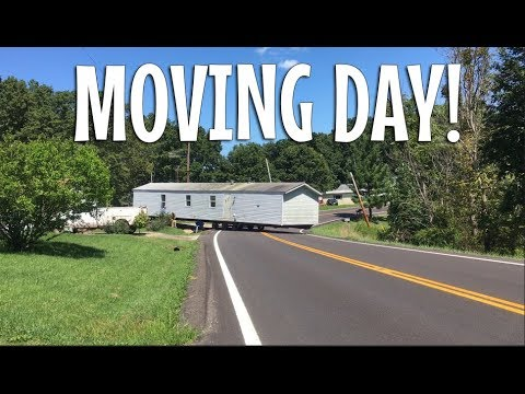 Moving a Single Wide Mobile Home - From 2500 to 950 sq. ft. Family adopts minimal lifestyle