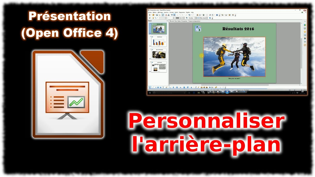 tuto impress 4 - personnaliser l u0026 39 arri u00e8re plan  open office