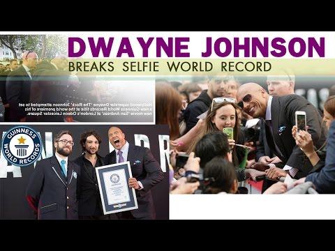 Dwayne 'The Rock' Johnson Breaks Selfie World Record at 'San Andreas' Premiere