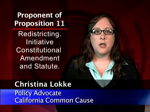CGS.ORG - California Prop. 11 - Proponent Statement