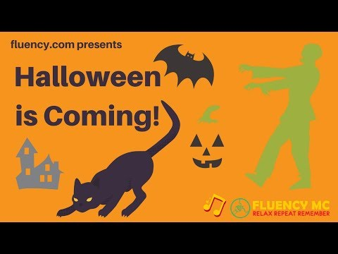 """Halloween is Coming"" Rap Halloween Vocabulary with Fluency MC!"
