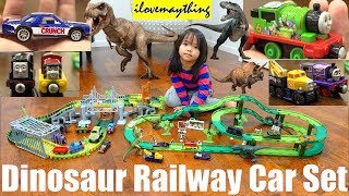Toy Channel: Magic Tracks Dinosaur Railway Car Playsets! T-Rex Dinosaurs, Toy Cars and Toy Trains
