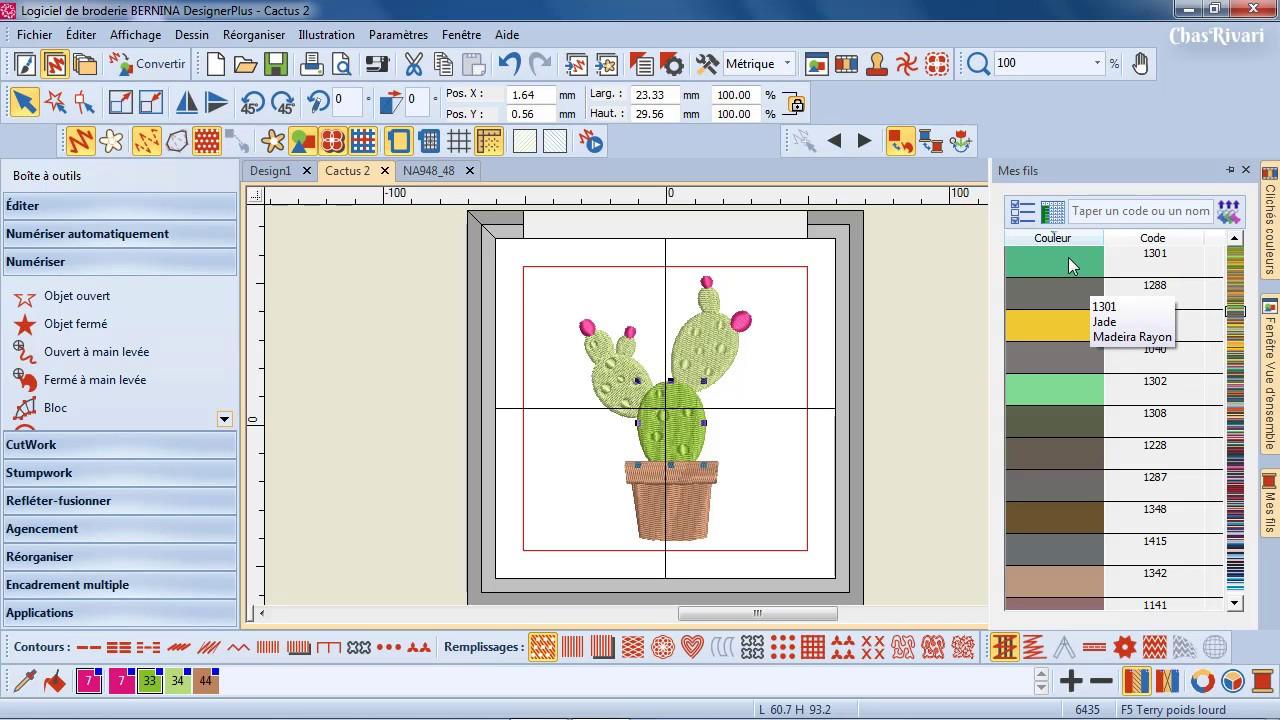 d233couverte du logiciel de broderie designer plus v8 de
