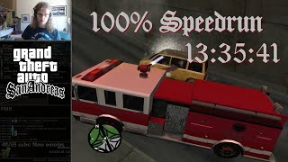 Grand Theft Auto: San Andreas 100% Speedrun in 13:35:41
