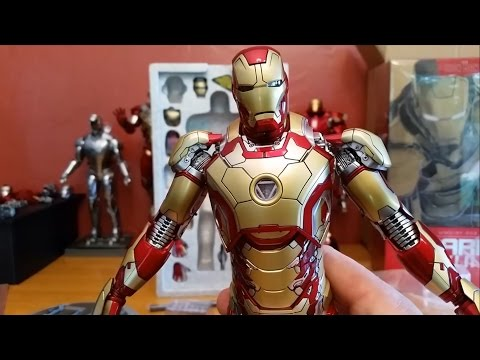 Unboxing Hot Toys Iron Man Mk 42 1/6 Scale MMS 197 D02 Diecast Collectible Figure