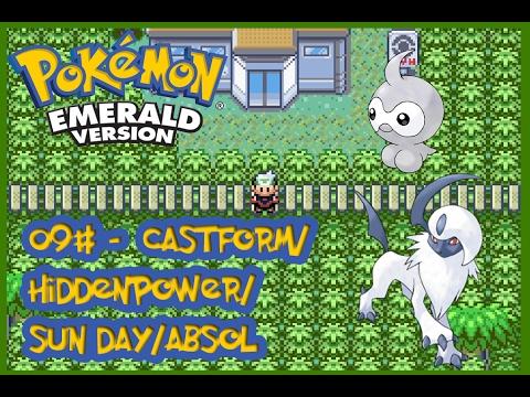Pokémon Emerald #09 - Castform/HIDDENPOWER/SUN DAY/ABSOL