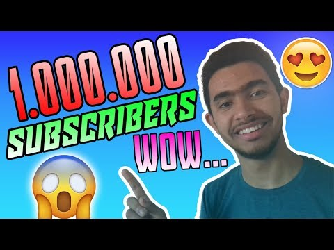THANK YOU FOR 1,000,000 SUBSCRIBERS !!