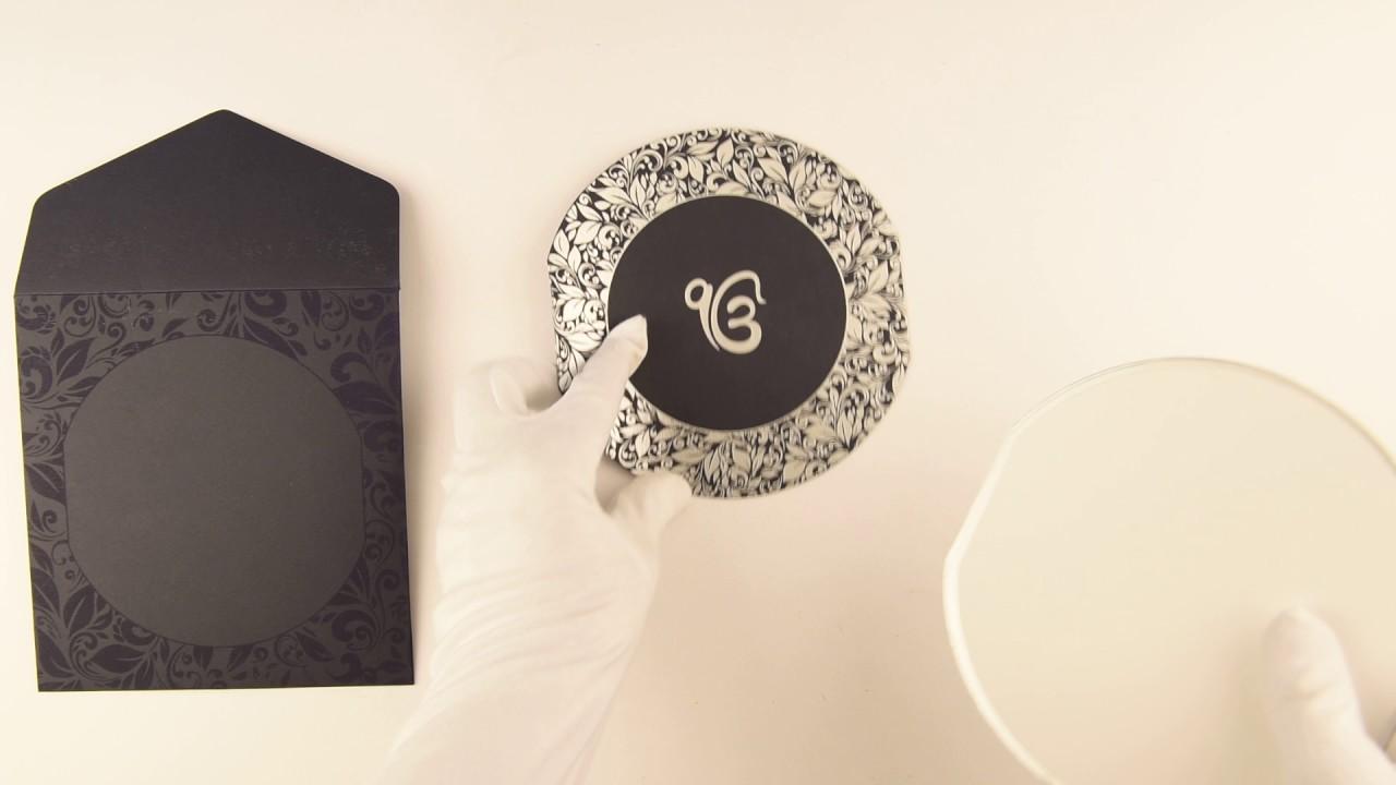 D-8180, Blue Color, Sikh Wedding Cards, Punjabi Wedding Cards, Sikh ...