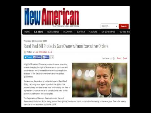 Rand Paul Bill Protects Gun Owners From Executive Orders