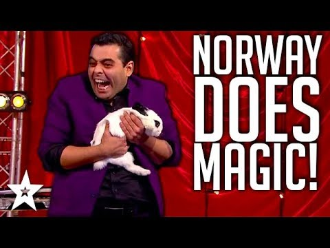 Magician Magicurty on Norway's Got Talent | Got Talent Global