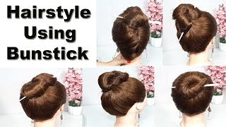 5 new bun hairstyle for wedding and party | trending hairstyle |1 min hairstyle | hairstyles