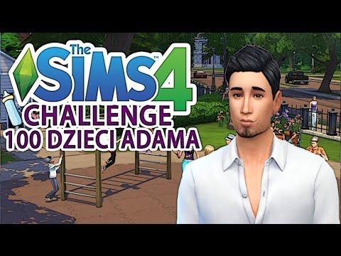 The Sims 4 Pl : Wyzwanie 100 dzieci Adama #1