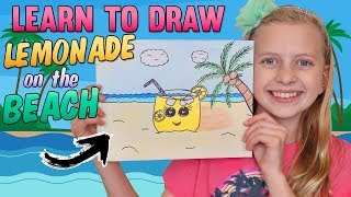 Cute Lemonade Cup at the Beach || Art with Alyssa