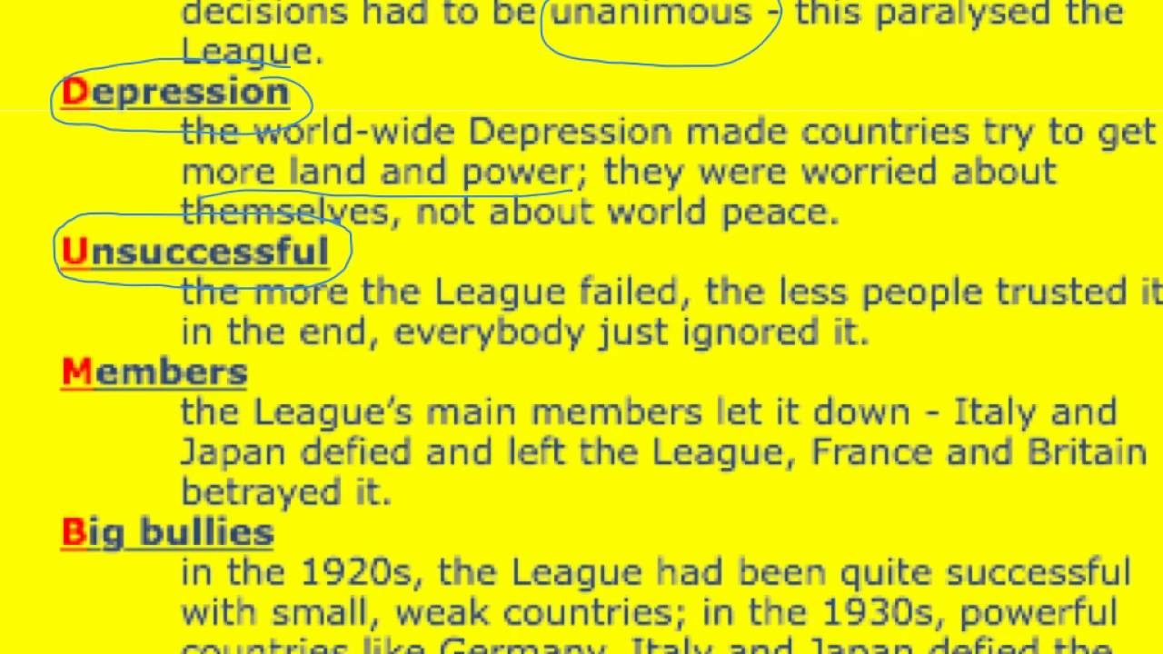 the league of nations why did it Topic: why did the league of nations fail what was the league of nations the league of nations was an organization founded because of the peace conference in paris which put an end to the world war one.