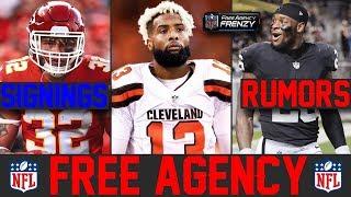 NFL Free Agency Latest Signings News & Rumors (2019 NFL Free Agency Winners Losers) OBJ Trade?