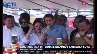 Safari Politik, Sandiaga Uno Disambut Emak-emak dan Pedagang Pasar di Ternate - SIP 07/11