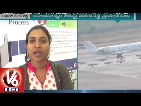 Trujet Airlines Flight Delayed with Technical Issue | Passengers in Concern - V6 News