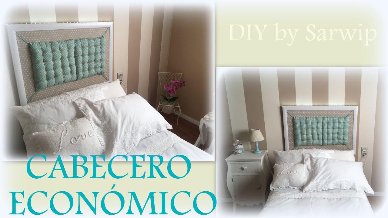 ✫ DIY ✫ Cómo hacer cabecero barato || Cabecero cama de 90 por ...