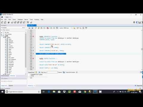MySql 30   CONVERT And CAST Functions In MySql