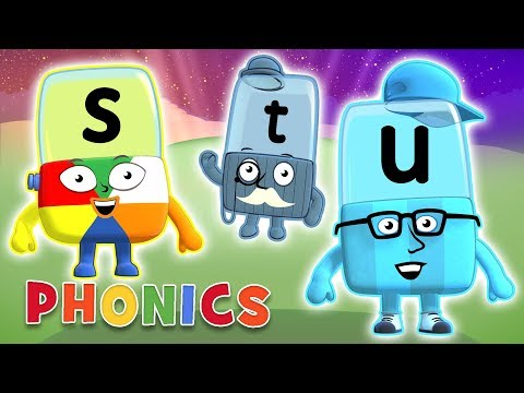 Phonics - Learn to Read | Letters S, T, U | Alphablocks