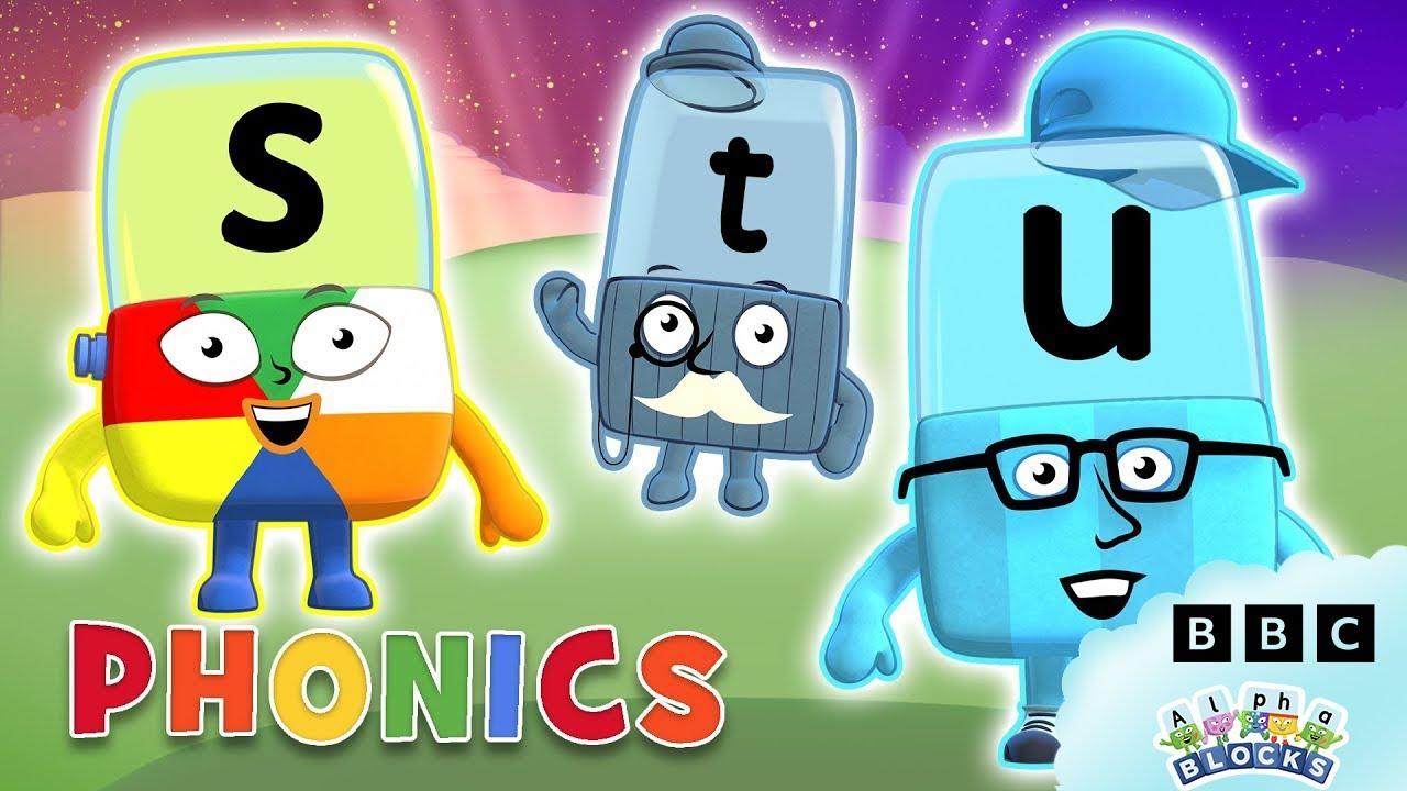 Download Phonics - Learn to Read | Letters S, T, U | Alphablocks
