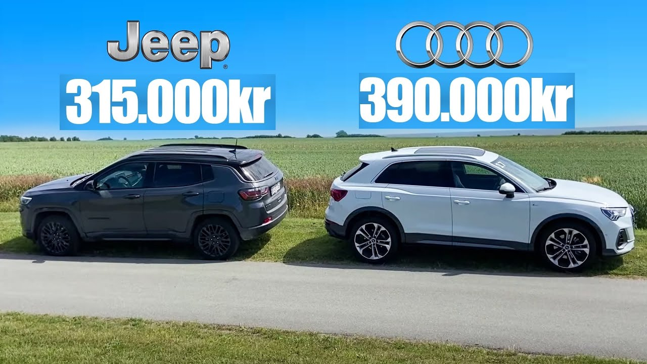 Audi Q3 vs Jeep Compass: BEDSTE plug-in SUV?