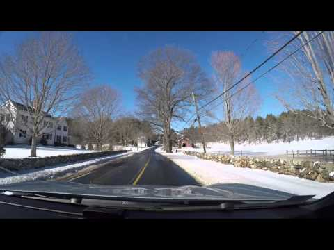 Driving around Sherborn MA after snowfall 1/24/16