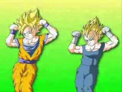 Son-Goku und Vegeta tanzen xD  [Caramelltanzen German Version]