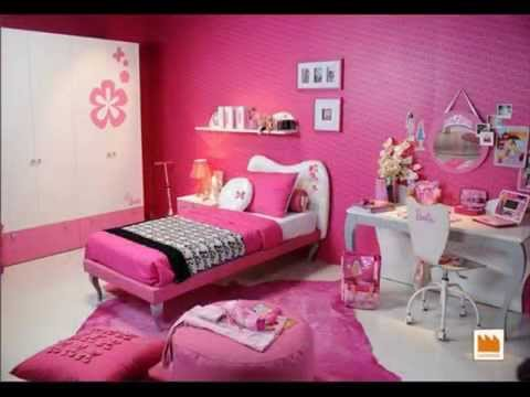 barbie furniture bedroom - YouTube