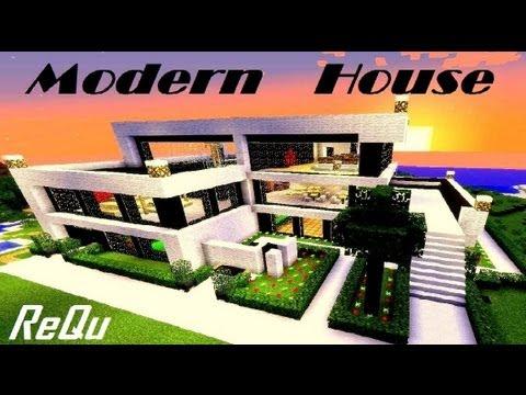 Modern House Nowoczesny Dom Speed Build Minecraft 3 Youtube