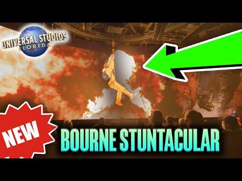 NEW! Jason Bourne Stuntacular Show (Soft Opening) + Full Queue | Universal Studios Orlando Florida