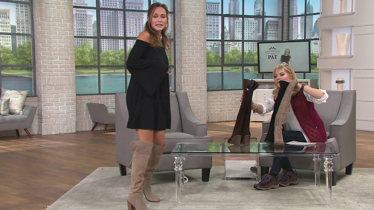 a3f1eb9423b Franco Sarto Over the Knee Suede Boots with Tassel - Eckhart on QVC ...