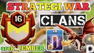 ⛔ Strategi kemenangan Clans arek_JEMBER | Bat spell masih sadis | Clash of clans Indonesia