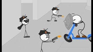 Henry Stickmin Series Animation - Stealing the Diamond Museum Theft - Stickman Games Funny Fails