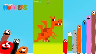 Fun Animals 5 Part2 Puzzles - DragonBox: Numbers (iPad, iPhone, Android). Fun game for kids.