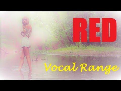 Taylor Swift 'RED' Album Full Vocal Range