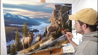"Landscape Painting Time-lapse | ""Western Beauty"""