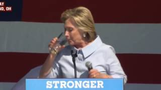 HILLARY CLINTON REPTILIAN? GREEN SUBSTANCE IN CLEVELAND